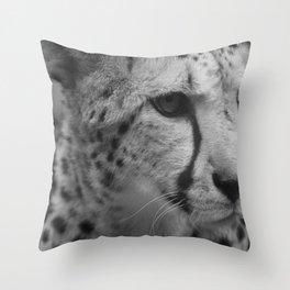 Cheetah Black & White Throw Pillow