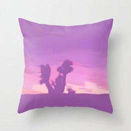 Lavender Joshua Sunset - Pop_Art Throw Pillow