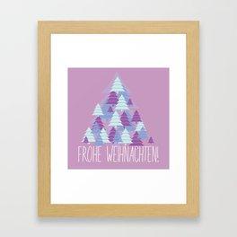Christmas card Tree Framed Art Print