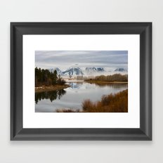 Early Spring Morning at Oxbow Bend, Wyoming Framed Art Print