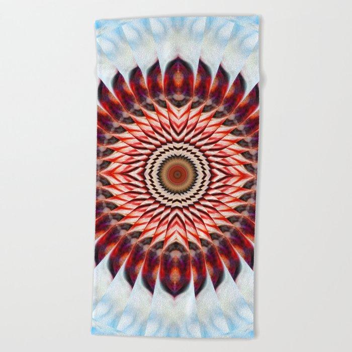 Windmill mandala Beach Towel