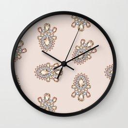 Jewelbox: Morganite Brooch in Light Blush Wall Clock