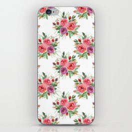 Watercolor . A bouquet of roses. 2 iPhone Skin