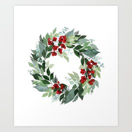 Holly Berry Art Print