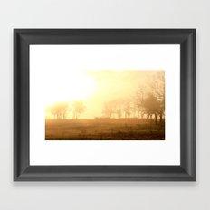 awake to fog ...  Framed Art Print