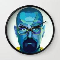 heisenberg Wall Clocks featuring Heisenberg by Ned & Ems