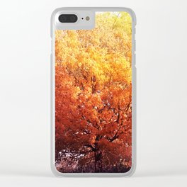 Burning Tree Clear iPhone Case