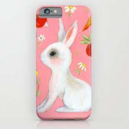Bunny and treats iPhone Case