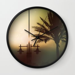 Mysterious sunset Wall Clock