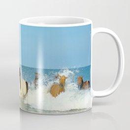 Wild Horses Swimming in Ocean Coffee Mug