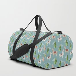 Cute Llamas Illustration Duffle Bag