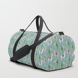 Cute Llamas Illustration Duffle Bag