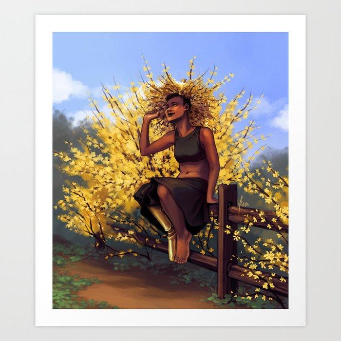 Forsythia Witch II Art Print