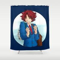 akira Shower Curtains featuring Ujigawa Akira by anywayimnikki