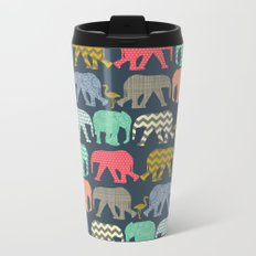 baby elephants and flamingos Metal Travel Mug