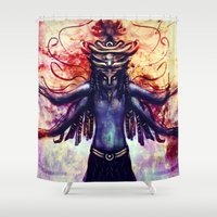third eye Shower Curtains featuring Third Eye by Ayula