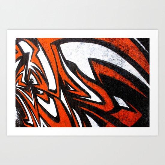White n' Red Art Print