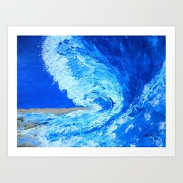Big Wave  palette knife abstract Art Print