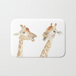 Giraffe Watercolor Bath Mat