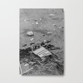 Empty Cigarette Box on the Street, B Metal Print