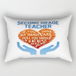 2nd Grade Teacher Rectangular Pillow