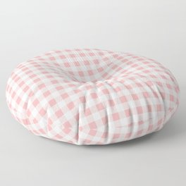 Lush Blush Pink and White Gingham Check Floor Pillow