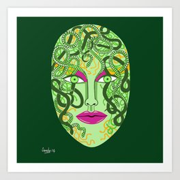 green visage Art Print