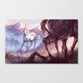 The Rabid Unicorn Canvas Print