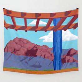 Blue Saguaro Wall Tapestry