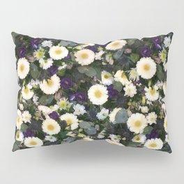 Paige's Floral Art Purple Thistle and Lisianthus Flower Arrangement Pillow Sham