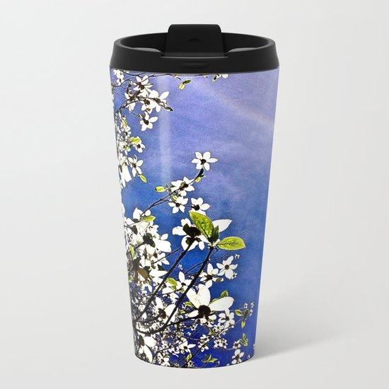 Pacific Dogwood Blossoms Metal Travel Mug