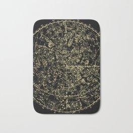 Astro Astronomy Constellations Astrologer Vintage Map Bath Mat