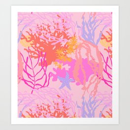 Coral Reef in Pink Art Print