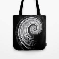Black And White Skeletal Shell  Tote Bag