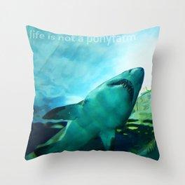 Life is not a ponyfarm Throw Pillow