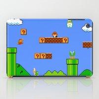 super mario iPad Cases featuring Mario by idaspark