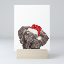 Christmas Baby Elephant Mini Art Print