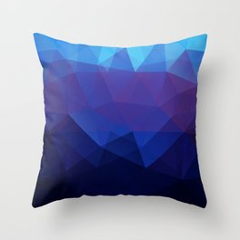 Blue abstract background Throw Pillow