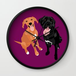 Margo and Molly Wall Clock