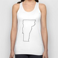 vermont Tank Tops featuring Vermont by mrTidwell
