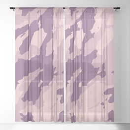 Colorful Marble Modern Light Rose Color Sheer Curtain