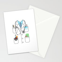 Doctor Costume Lab Coat Cosplay Stationery Cards