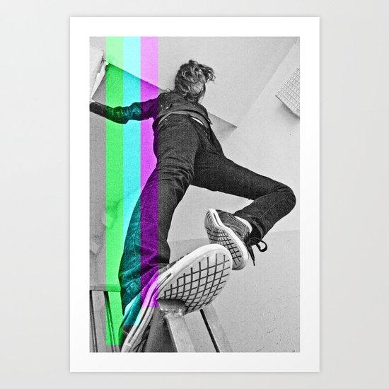 Human abstract Art Print