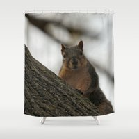 peanuts Shower Curtains featuring Did you bring peanuts? by IowaShots