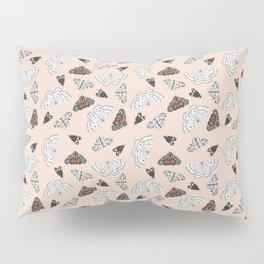 Muted Illustrated Moth Pattern Pillow Sham