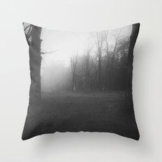 The Fog in the Hollow Throw Pillow