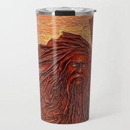 Wooden Masks Travel Mug