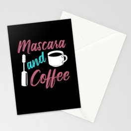 Mascara And Coffee Make-Up Artist Gift Stationery Cards