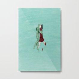 The Shape of Water - Watercolor Metal Print