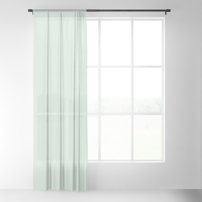 Light Mint Green Sheer Curtain By